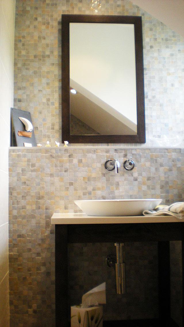 Carrelage salle de bains et douches l 39 italienne - Etendoir salle de bain ...