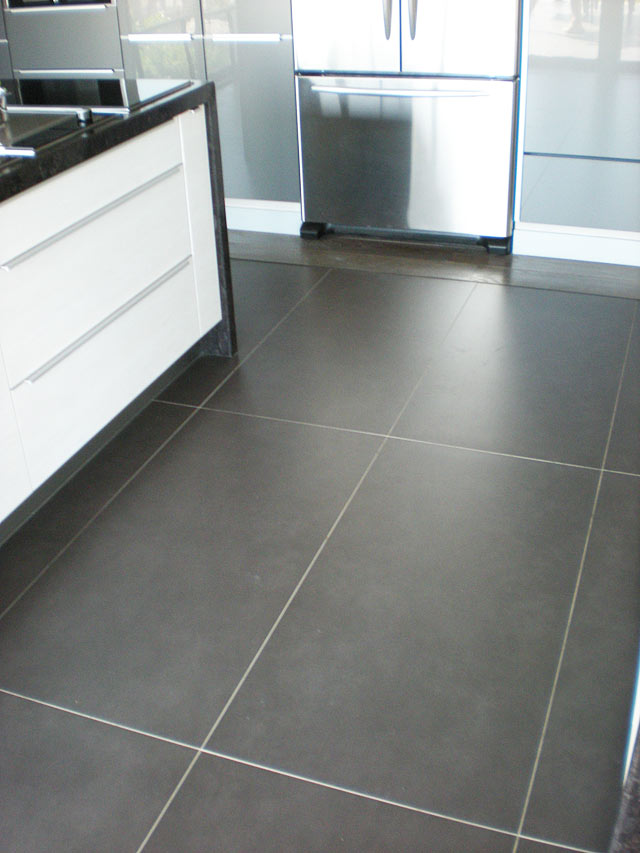 Carrelage cuisine grand carreaux for Carrelage sur fermacell sol